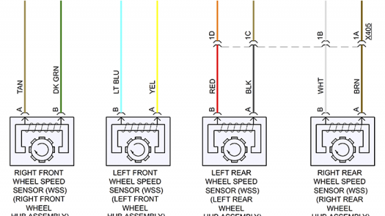 Wheel speed sensor wiring diagram