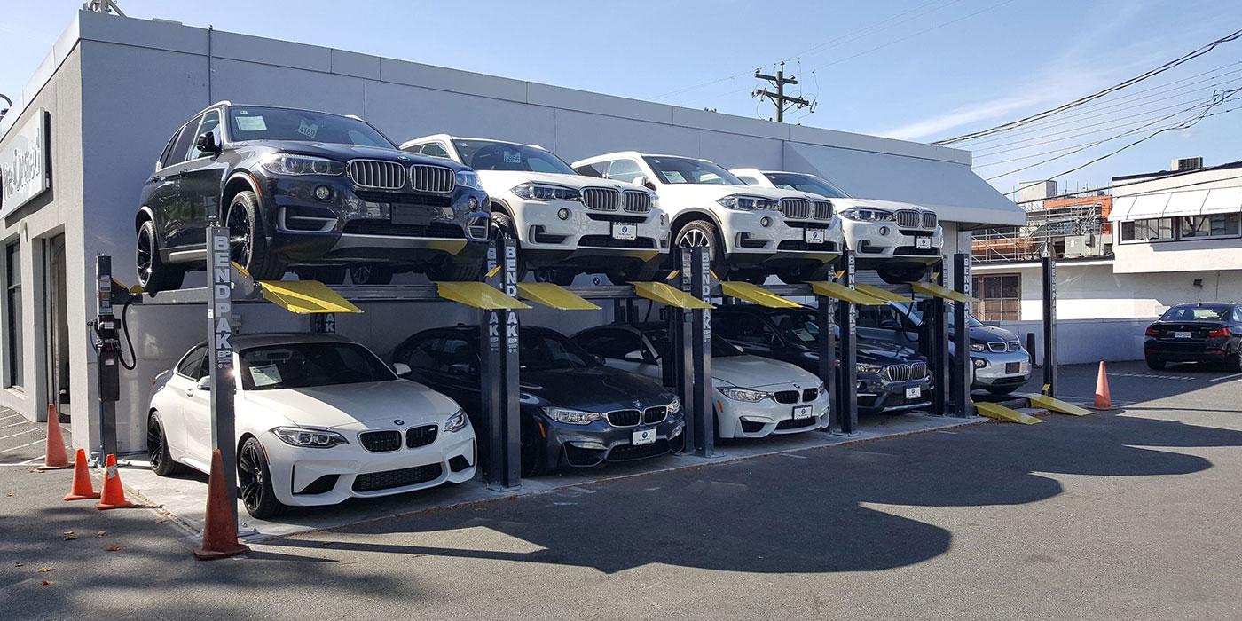 Autostacker vehicle storage lifts